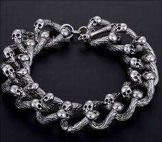 Super Heavy Badass Skull Bracelet