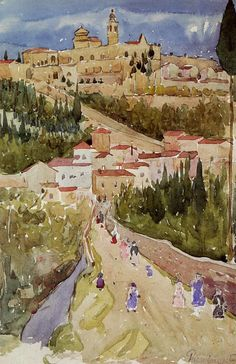 Assisi by Maurice Prendergast #art