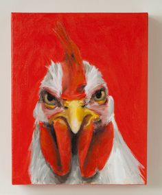 Angry Chicken art - I think @Margaret Cho Martinez May needs this in her kitchen. :)