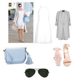 """""""Miranda Kerr"""" by coudray-eve on Polyvore featuring Kerr®, River Island, New Look, Kate Spade, Steve Madden and Ray-Ban"""