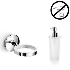 Shop WS Bath Collections Spritz 52401.29+55006 Spritz Glue Self-Adhesive Holder with Soap Dispenser at Lowe's Canada. Find our selection of soap dispensers at the lowest price guaranteed with price match + 10% off.