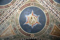 Fresco on the ceiling of the Collegiata, St. Mark symbolized as a lion by renzodionigi, via Flickr