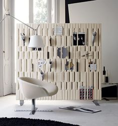 Internal Design note design creates office divider for people working on the go | note