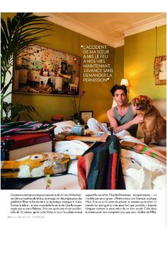 "Mika ""Ma Famille Mon Rempart"" - Paris Match - February 13, 2014 - french - page 3 of 8"