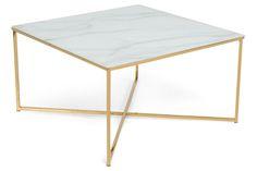 Sohvapöytä Valeria 80x80cm  - Lasimarmori   Kodin1.com