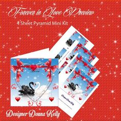 Forever in Love Mini Kit on Craftsuprint designed by Donna Kelly - Beautiful black