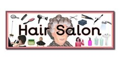 Hairdressers role play resources hairdressers signs for Adamstown beauty salon