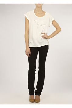 J Brand Mid-rise Cigarette leg jeans in black, from Donna Ida - http://click.linksynergy.com/fs-bin/click?id=ElzNypcSxMI==259063.1=10=8397=2670581_PARM1=http%3A%2F%2Fwww.donnaida.com%2Fdenim%2Fstraight-leg-jeans%2Fj-brand-14-cigarette-leg-jeans-black.html - Sublime choice of jeans for an apple-figured woman. The slimmer fit will enhance & emphasize your slender legs - 1 of your best features - which in turn will deflect focus from a fuller tummy & torso!