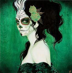 """""""Calaveras"""" messicani: teschi decorati e colorati con i colori più vivaci e sgargianti. Sono i teschi della festa dei morti, la festa in cui in Messico si usa andare al cimitero e pranzare sulle tombe dei propri defunti. E' un modo per celebrare la Morte, ma soprattutto la vita. Ridere di ciò che più temi è l'unico modo per esorcizzare una paura e vivere al meglio."""