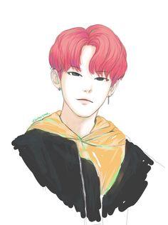 버터스푼 on seventeen jeonghan seventeen, seventeen и hoshi seve Boy Art, Art Girl, Supernatural Fan Art, Jeonghan Seventeen, Korean Art, Kpop Fanart, Disney Fan Art, Artist Art, Art Music
