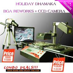 #COMBO #DEAL #HOLIDAY #DHAMAKA BGA REWORK RE-8500 + CCD CAMERA combo price-1,20,000 If you'll buy before 31st May 2015 price of BGA Rework will be Rs1,05,000/-  #Actual #Value BGA REWORK RE-8500 is Rs1,35,000.  For more details feel free to contact us. you can mail us on :- sales@icchipset.com info@icchipset.com  For customer care- +91 8010997711