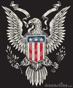 Illustration about Vector image of American Eagle. Illustration of hawks, hand, emblems - 31718699 Army Tattoos, Military Tattoos, Eagle Tattoos, Sleeve Tattoos, Warrior Tattoos, Seal Tattoo, Tatoo Art, Tattoo America, Shield Tattoo