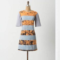 Anthro Pipit Photopetal Tee Dress Though simple in shape, this tee dress is doubly printed - once photographically with flora, once screened with stripes - rendering it twice as appealing. Grounded by a solid jersey back, it could become your go-to basic. An Anthropologie exclusive from Pipit, a line inspired by clean silhouettes and icons of photography and rock-and-roll.  Side pockets  Back zip  Cotton  Dry clean Anthropologie Dresses
