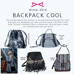 The coolest fashion trend around. Cool Backpacks, Fall Winter 2015, Drawstring Backpack, Tie Dye, Satchel, Comfy, Fancy, Cool Stuff, Bags