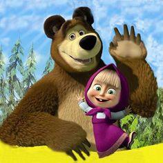 М Bear Birthday, 2nd Birthday Parties, 4th Birthday, Marsha And The Bear, Cherry Blossom Wallpaper, Simpsons, Free Printable Invitations, Bear Theme, Bear Wallpaper