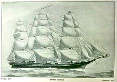 "The Australia Packet Clipper ""James Baines"", 1854, James Baines & Co. Liverpool' Black Ball Line"
