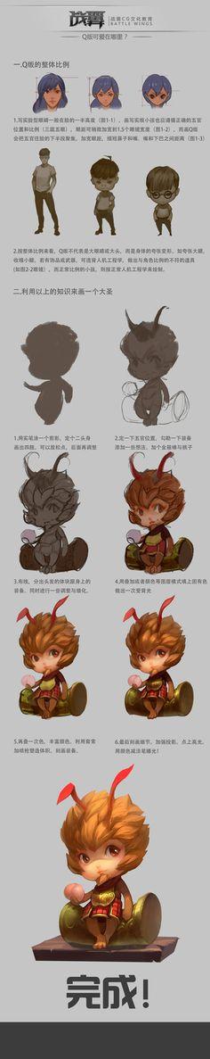 大圣归来排版, chen zhan on ArtStation at https://www.artstation.com/artwork/G1543