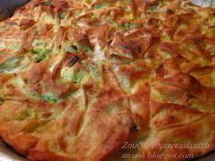 Η πρασόπιτα είναι από τις αγαπημένες μας πίτες !   Σήμερα την έκανα μισή- μισή με τυρόπιτα για κάποιους που δεν τρώνε τα πράσα! ... Greek Desserts, Greek Recipes, Greek Pastries, Quiche, Greek Cooking, Savoury Baking, Spinach Recipes, Family Meals, Kitchens