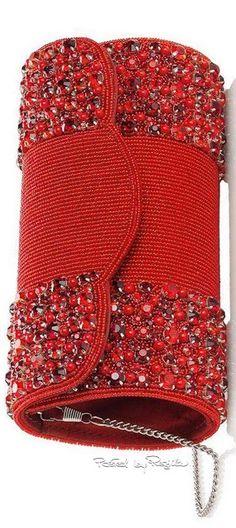 Regilla ⚜ Una Fiorentina in California : Photo Red Purses, Purses And Handbags, Red Fashion, Fashion Bags, Red Handbag, Shades Of Red, Beautiful Bags, Clutch Purse, My Bags
