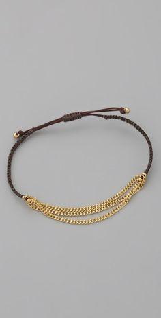 Shashi  Three Row Chain Bracelet