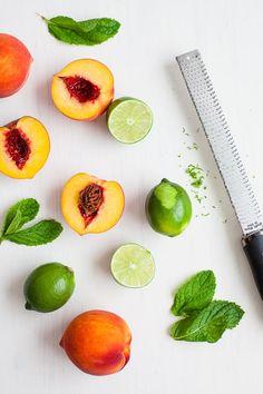 Peach Lime Mint Rolls / blog.jchongstudio.com