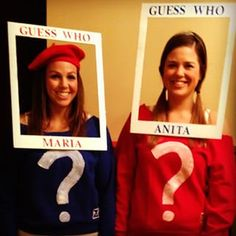Remember that beloved game, Guess Who? Dress up like your favorite characters by taking a blue or red sweatshirt and painting question marks on them. Add a cardboard frame to hang around your head. Try this costume in a group or with your best bud!