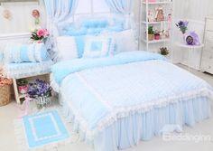 High Quality Charming Crystal Velvet 4 Piece Cinderella Duvet Cover Sets