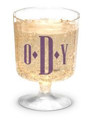 Personalized Clear Plastic Small Wine Glasses