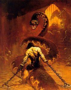 Frank Frazetta Conan, Conan Der Barbar, Conan The Destroyer, Bd Art, Conan The Barbarian, Dungeons And Dragons Homebrew, Sword And Sorcery, Science Fiction Art, Fantasy Illustration