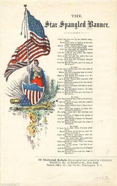 1814 Star Spangled Banner by Frances Scott Key. American Songs, American Flag, American History, American Freedom, American Girl, I Love America, God Bless America, Us History, History Facts