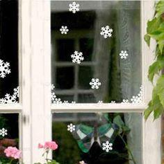 natal floco de neve adesivos de parede do windows colar de gabinete adesivos de decoração de natal adesivos