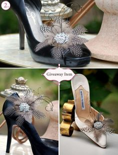 Statement Wedding / Formal Event / Gala / Engagement shoe clips! http://sofisticata.etsy.com MORE colors available!