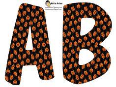 Alfabeto de calabazas para Halloween.