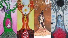 """""""Libro de las sombras"""". Del ciclo menstrual y el ciclo lunar: Luna roja (IV de XII)"""