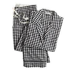 Pajama Set in gingham flannel (under $100)