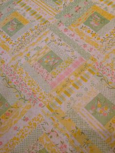 Pastel Faux Quilt Pillowcase on Etsy, $4.00