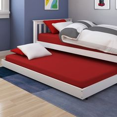 CorLiving Monterey Trundle Bed - Your little one's on a roll when the CorLiving Monterey Trundle Bed rolls under the bed. Designed to fit all CorLiving Monterey and Concordia be...