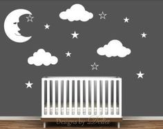 Popular items for crescent moon decal on Etsy
