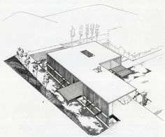 Case Study House / Bailey House / Pierre Koenig / 1958 / Included in 2013 on US's National Register of Historic Places. Study Architecture, Architecture Magazines, Architecture Drawings, Residential Architecture, Los Angeles Usa, Los Angeles Homes, Cabana, Pierre Koenig, Decks