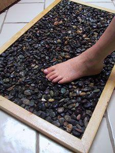 DIY stone bathmat.