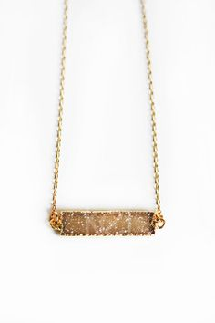 DRUZY bar necklace