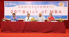 Dignitaries on Dais: Dr. R. Raghu Raman, Chairman, ASB; Dr. P. Venkat Rangan, Vice Chancellor, Amrita University; Chief Guest Prof. Shekhar Chaudhuri, Former Director, IIM Kolkata; Guest of Honor Ms. Hema Gopal, Vice President, Global Head, IBM Centre of Excellence at TCS