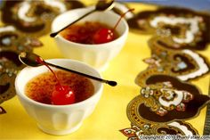 Cherry Creme Brulee with Stewed Cherries Recipe