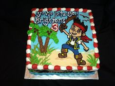 Jake and the Neverland Pirates cake! www.rachelscakesli.com www.facebook.com/Rachel.m.cakes