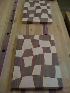If Alice was a chef these would be her Cutting boards. Created by Matt Allard.