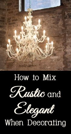 Decorating a home using a mixture of contrasting decor styles can create a unique and fabulous one of a kind space.  If you would like to decorate your home in a mix of rustic and elegant, here are a few tips.   CompartmentalizeWhen m...