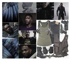 """""""Sam Wilson -- The Falcon"""" by kit-catt-kate ❤ liked on Polyvore featuring Levi's, Lola and Steve Madden"""