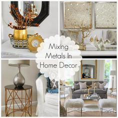 Decorating Cents Mixing Metals In Home Decor Grey And Gold Bedroom
