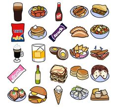 IRISH FOOD CLIPART - st patricks day icons Ireland's culinary increase means that skilled cooks Cute Food Drawings, Kawaii Drawings, 2560x1440 Wallpaper, Food Clipart, Clipart Images, Episode Interactive Backgrounds, Ireland Food, Cute Anime Chibi, Food Icons