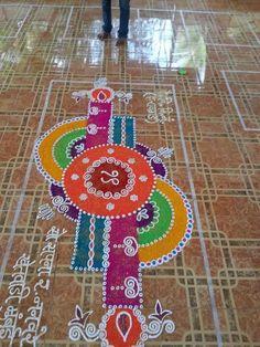 Rangoli Rangoli Colours, Colorful Rangoli Designs, Rangoli Designs Diwali, Rangoli Designs Images, Diwali Rangoli, Beautiful Rangoli Designs, Rangoli Borders, Rangoli Patterns, Rangoli Ideas